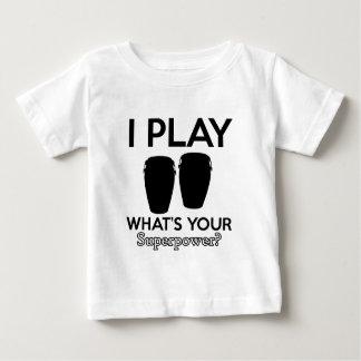 Camiseta Para Bebê design do conga