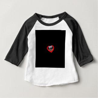 Camiseta Para Bebê Design do coração da vela para o estado de Kansas