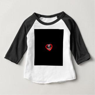 Camiseta Para Bebê Design do coração da vela para o estado de Wyoming