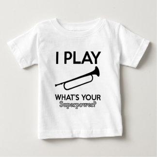 Camiseta Para Bebê design do cornetim