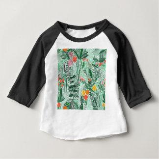 Camiseta Para Bebê Design do ethno de Indonésia das flores