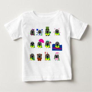 Camiseta Para Bebê design do feriado do papagaio de Senegal do