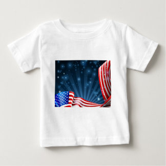 Camiseta Para Bebê Design do fundo da bandeira americana