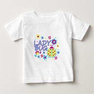 Camiseta Para Bebê Design do inseto da senhora