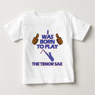 Camiseta Para Bebê design do Musical do saxofone do conteúdo