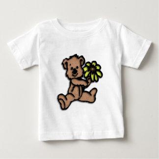 Camiseta Para Bebê Design do urso da margarida