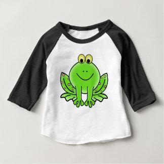 Camiseta Para Bebê design do verde da inspiração da arte do sapo