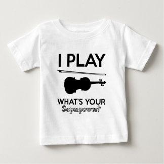 Camiseta Para Bebê design do violino