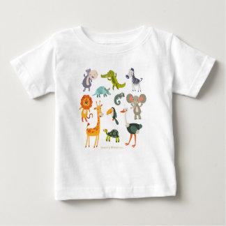 Camiseta Para Bebê Design dos animais