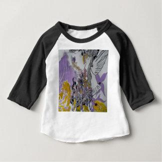 Camiseta Para Bebê Design dos cobras e da mulher do pássaro