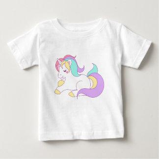 Camiseta Para Bebê Design dos desenhos animados do cavalo do pônei do