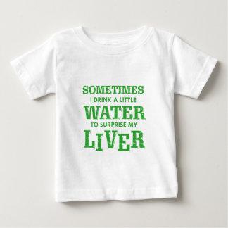 Camiseta Para Bebê Design engraçado do fígado