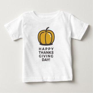 Camiseta Para Bebê Design feliz da abóbora do dia da acção de graças