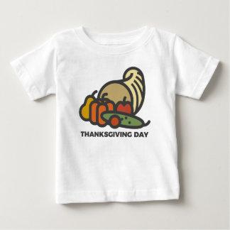 Camiseta Para Bebê Design feliz do Cornucopia do dia da acção de