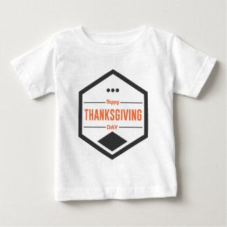 Camiseta Para Bebê Design feliz do dia da acção de graças