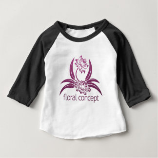 Camiseta Para Bebê Design floral da flor