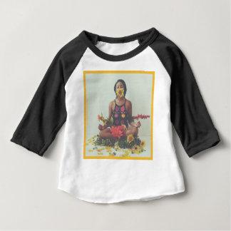 Camiseta Para Bebê Design floral da meditação de Sha Davis