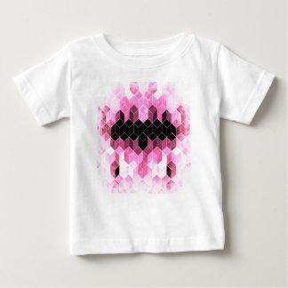 Camiseta Para Bebê Design geométrico cor-de-rosa & preto intenso