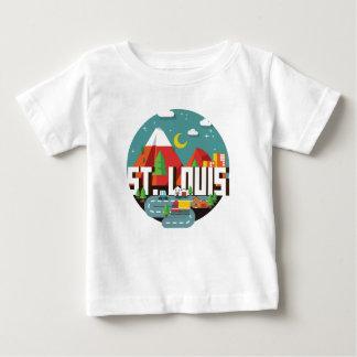 Camiseta Para Bebê Design geométrico de St Louis, Missouri