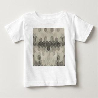Camiseta Para Bebê Design geométrico do cubo da escala cinzenta