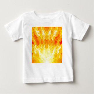 Camiseta Para Bebê Design geométrico do cubo do Sunburst amarelo