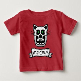 Camiseta Para Bebê Design gráfico do crânio do gato