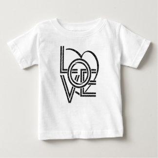Camiseta Para Bebê design gráfico do vintage do amor