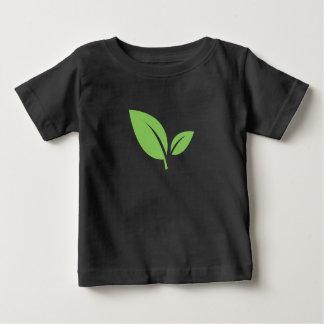 Camiseta Para Bebê Design gráfico preto verde verde da vida |