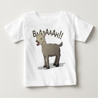 Camiseta Para Bebê Design gritando do macarronete do Doodle da cabra
