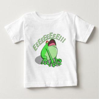Camiseta Para Bebê Design gritando do macarronete do Doodle do sapo