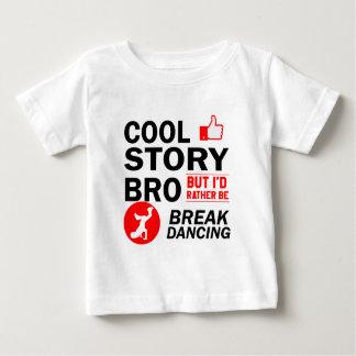 Camiseta Para Bebê Design legal da dança de ruptura