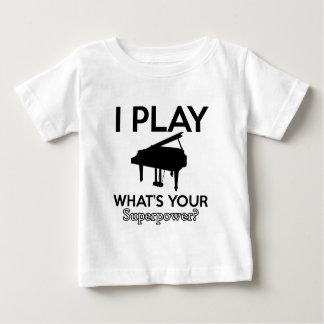 Camiseta Para Bebê design legal do piano