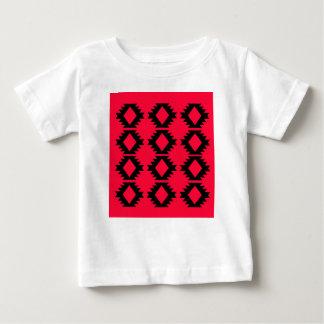 Camiseta Para Bebê Design maia vermelho do design de Ethno