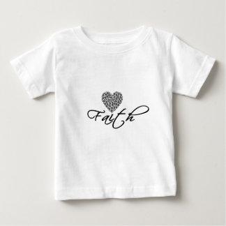 Camiseta Para Bebê Design moderno da fé com gráfico do coração