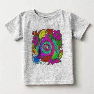 Camiseta Para Bebê Design Monogrammed floral colorido bonito do