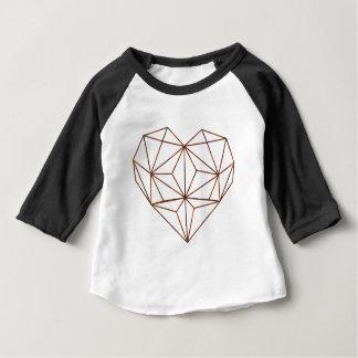Camiseta Para Bebê design oxidação-geométrico do coração