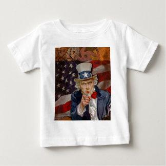Camiseta Para Bebê Design patriótico da bandeira de Steampunk Sam