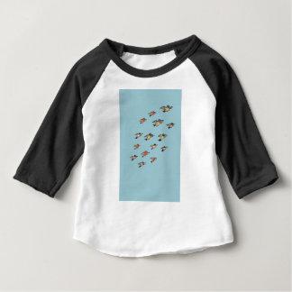 Camiseta Para Bebê Design personalizado do pássaro do vintage de |