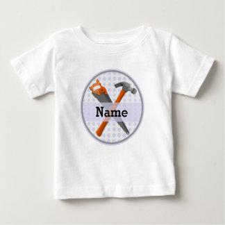 Camiseta Para Bebê Design personalizado nomeado das ferramentas para