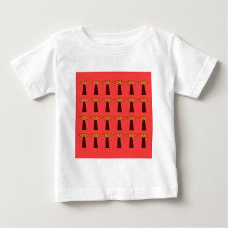 Camiseta Para Bebê Design pintado mão dos baobabs pequenos