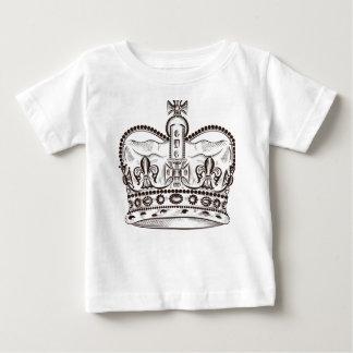 Camiseta Para Bebê Design real com a coroa no estilo do vintage