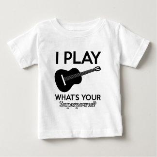 Camiseta Para Bebê design real do ukelele