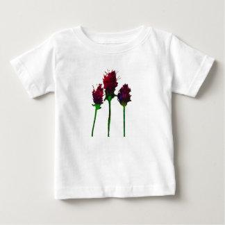 Camiseta Para Bebê Design roxo bonito da flor