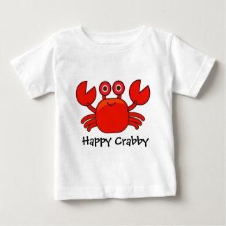 Camiseta Para Bebê Design vermelho Crabby/bonito feliz do caranguejo