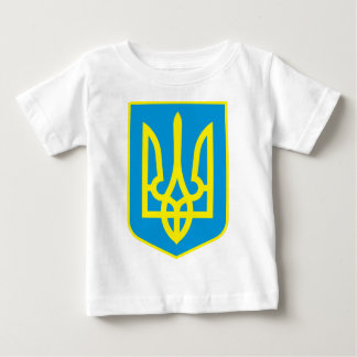 Camiseta Para Bebê Detalhe da brasão de Ucrânia