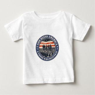 Camiseta Para Bebê Deus abençoe América