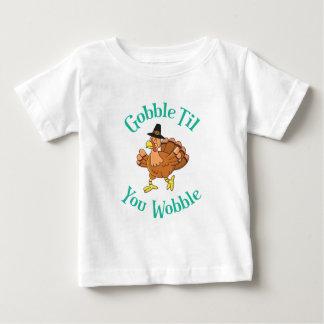 Camiseta Para Bebê Devore até que você acção de graças Turquia do