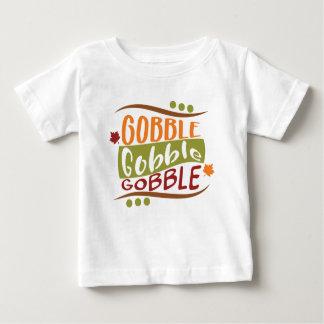Camiseta Para Bebê Devore devoram devoram o design da acção de graças