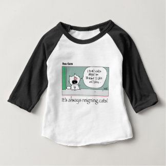 Camiseta Para Bebê Dez gatos - a - lírio pelo grahamharrop