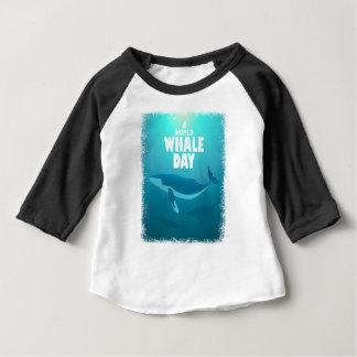 Camiseta Para Bebê Dia da baleia do mundo - dia da apreciação
